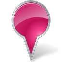 Map marker bubble pink arrow