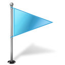 Map marker flag right azure