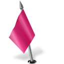 Map marker flag left pink