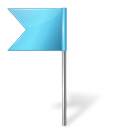 Map marker flag left azure