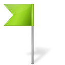 Map marker flag left chartreuse