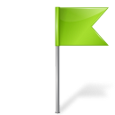 Map marker flag right chartreuse