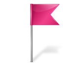 Map marker flag right pink