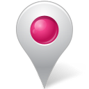 Map marker inside pink