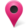 Map marker outside pink