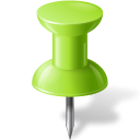 Map marker push pin chartreuse