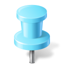 Map marker push pin azure