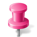 Map marker push pin pink