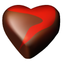 Hearts 12 chocolate