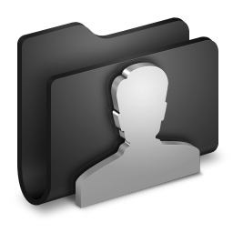User Customer Person Black Folder Face Alumin Folders 128px Icon Gallery