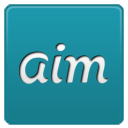 Aim network social internet plus logo