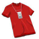 Store tshirt red apple