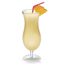 Cocktail pina colada drinks