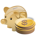 Piggy bank deposit money cash savings