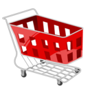 Shopping red cart basket