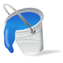 Color fill bucket paint blue