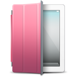 Pink cover ipad white