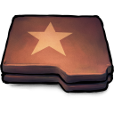 Folder brown star