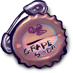 Things grape soda safety pin