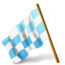 Hypic pack icon left chequered map flag by marker shlyapnikova azure base