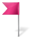 Map marker flag app left pink creative base iconset