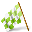 Icons marker chartreuse map hats chequered left base flag