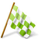 Ultimategnome marker chartreuse chequered base map flag right