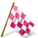 Flag marker pink base holloweenavatars chequered map right