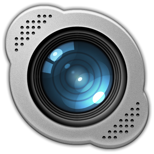 Icon vibrant skype set base camera