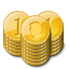 Base gold stacks coin