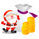Christmas money santa