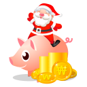 Christmas bank piggy santa
