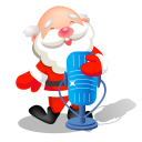 Christmas microphone singing santa