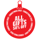 Gifts percent off