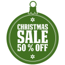 Christmas sale percent off