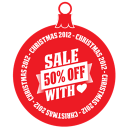 Sale percent off heart