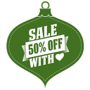 Sale percent off heart green