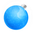 Christmas ball blue