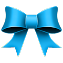 Ribbon blue christmas