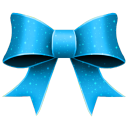 Ribbon blue pattern christmas