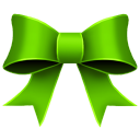 Ribbon green christmas