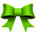 Ribbon green pattern christmas
