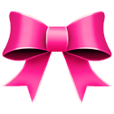 Ribbon pink christmas