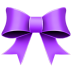 Ribbon purple christmas
