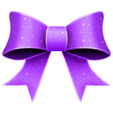 Ribbon purple pattern christmas