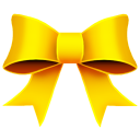 Ribbon yellow christmas