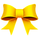 Ribbon yellow pattern christmas