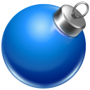 Ball blue ornament