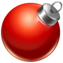 Ball red ornament
