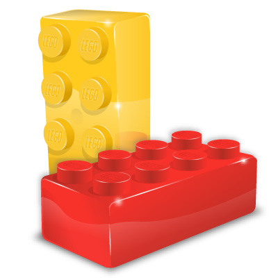 Box Module Format File Brick Lego / Super Vista / 128px / Icon Gallery